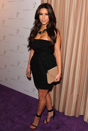Like most bridestobe Kim Kardashian focused on toning her arms and back