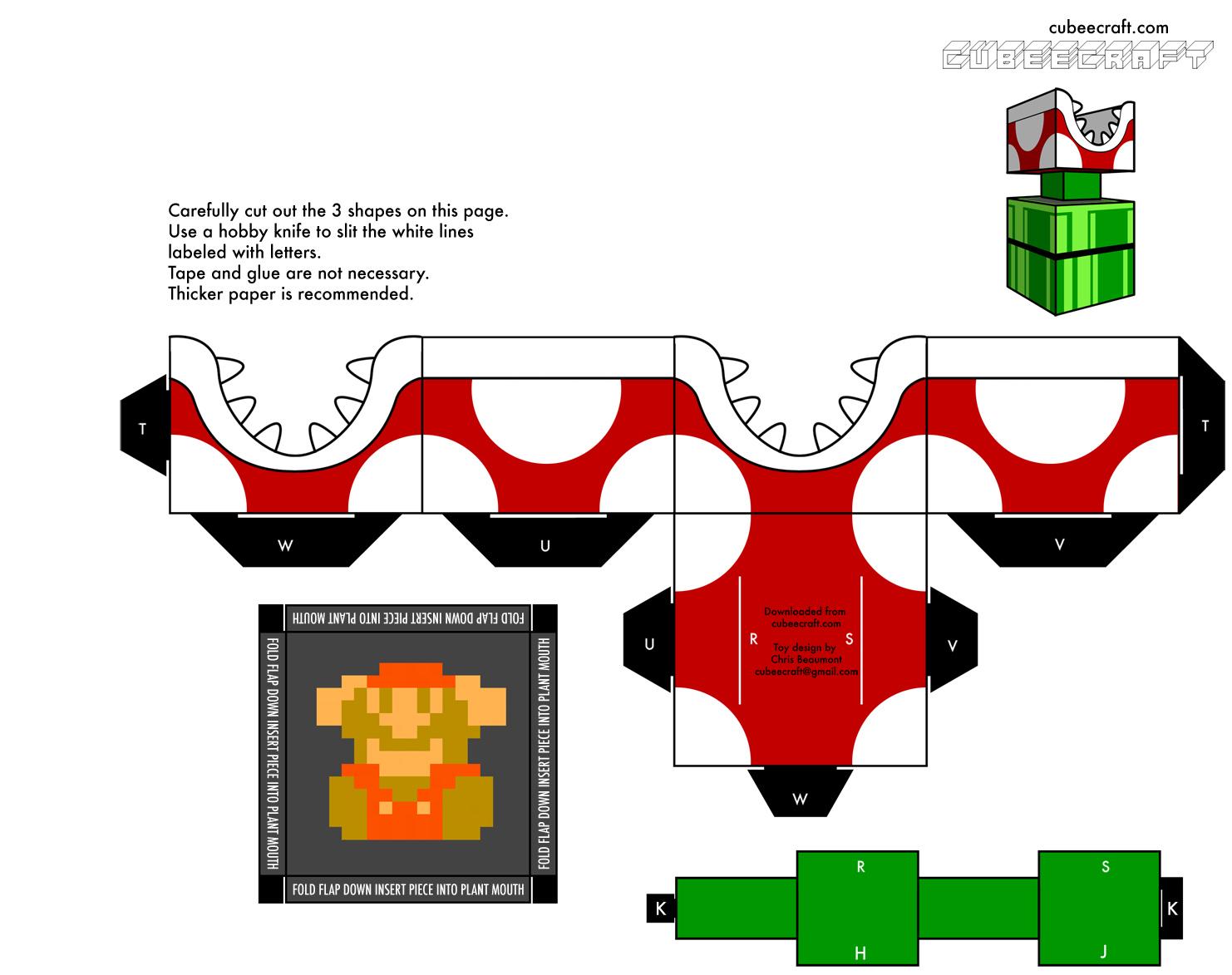 Super Mario Bros Papercraft